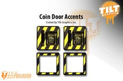"Jurassic Park ""Hazard"" Coin Door Accents"