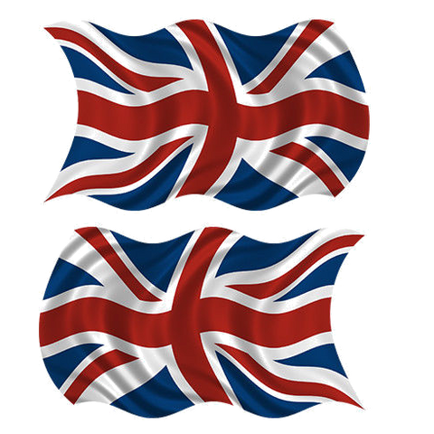 "Iron Maiden Hinge Decals ""Flag"" (Set of Two)"