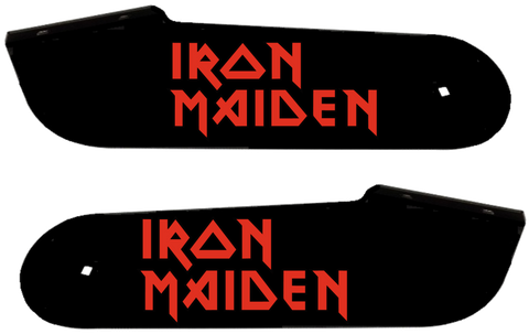 Iron Maiden Hinge Decals Red