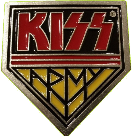 KISS Army Playfield Enamel Plaque