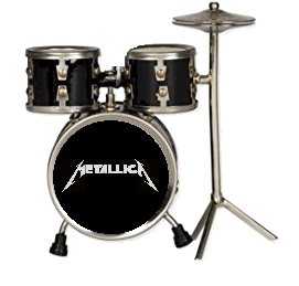 Metallica Playfield Drum Set Red