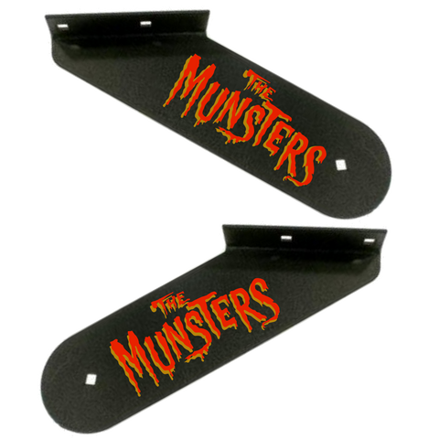 Munsters Hinge Decals Red/Gold