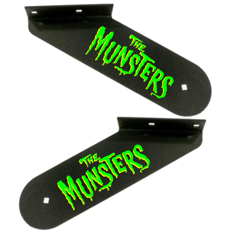 Munsters Hinge Decals Green/Yellow