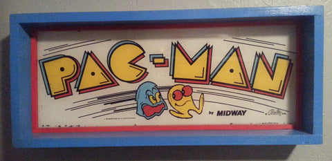 Pac-Man Framed Arcade Marquee (vintage)