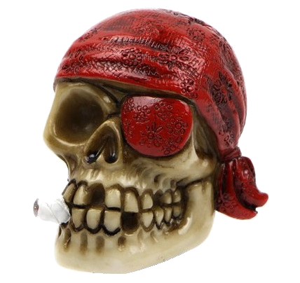 "Pirates of the Caribbean Character Shooter Rod ""Skull & eye patch"""