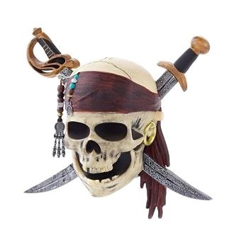 Pirates of the Caribbean Playfield Character Skull with swords