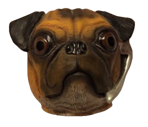 "Character Head Shooter Dog ""Pug"""