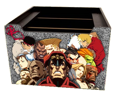 Arcade 1up Street Fighter 2 Riser Graphics all Characters