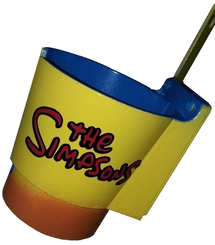 The Simpsons PinCup with Blue/Orange