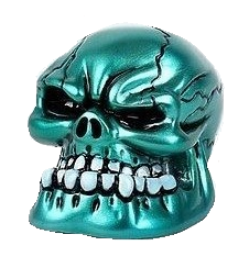 Skull Shooter Rod Metallic Teal