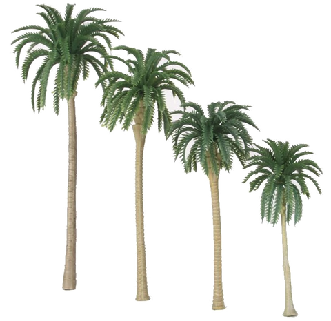 "Congo Playfield ""Coconut"" Palm Trees (set of 4)"