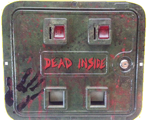 The Walking Dead Premium Custom Painted Coin Door