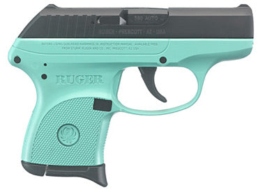 NEW Ruger LCP .380 Turquoise/Black