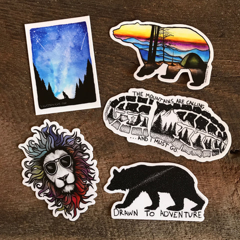 Drawn to Adventure Sticker Pack