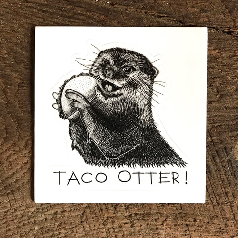 Taco Otter! Kiss Cut Sticker