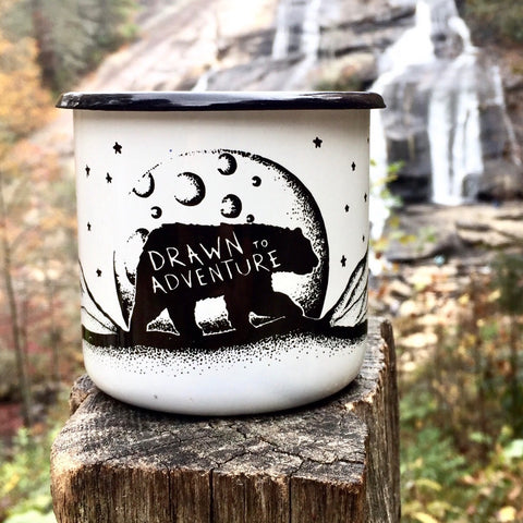 Enamel Camp Mug - INCLUDES FREE COFFEE!