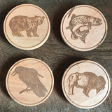 Rustic Maple Coasters