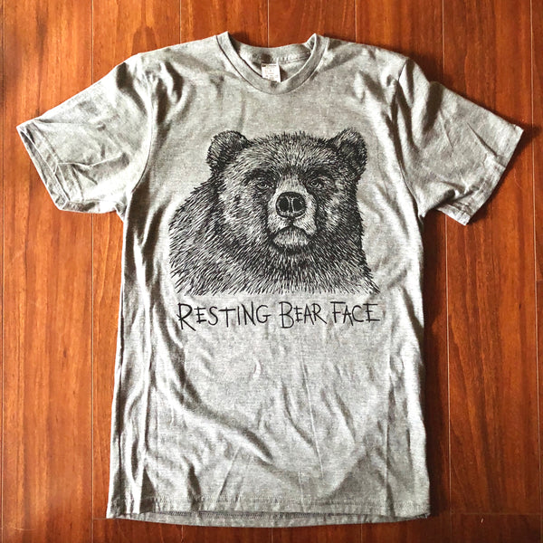 Resting Bear Face Triblend Tee
