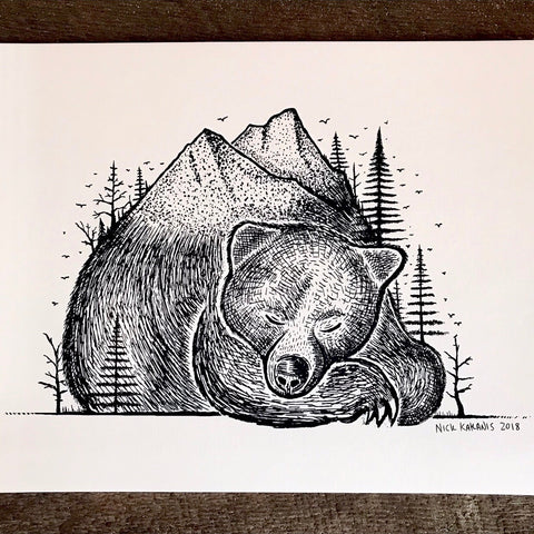 Bear Mountain - Fine Art Print