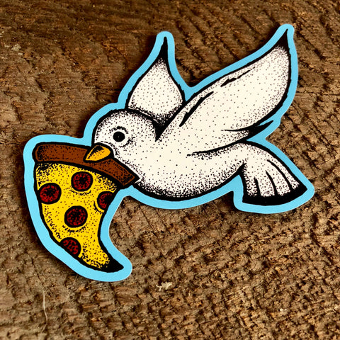 Pizza Dove Magnet