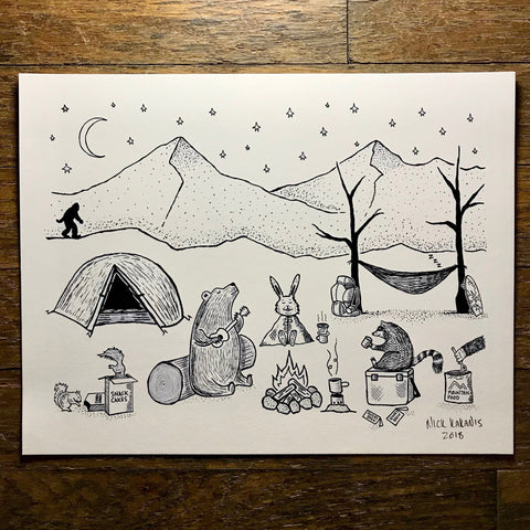 Rowdy Campsite - LIMITED EDITION PRINT