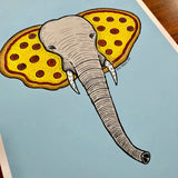 Pizza Elephant - Limited Edition Poster