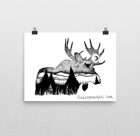 Moose Mountain Print