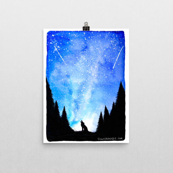 Howl at the Stars - Fine Art Print