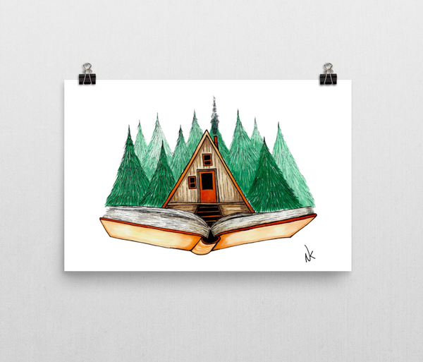 Cabin Story Print