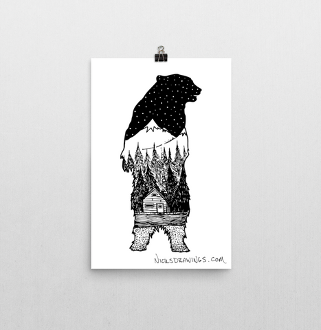 Bearly There Print