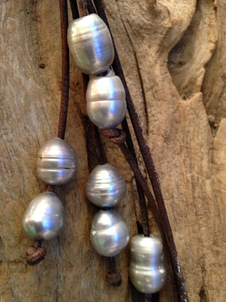 Grey Baroque Freshwater Pearls