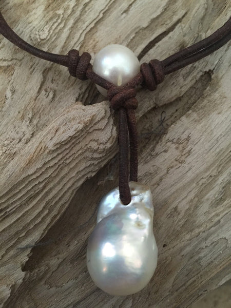 Fireball Pearl Necklace