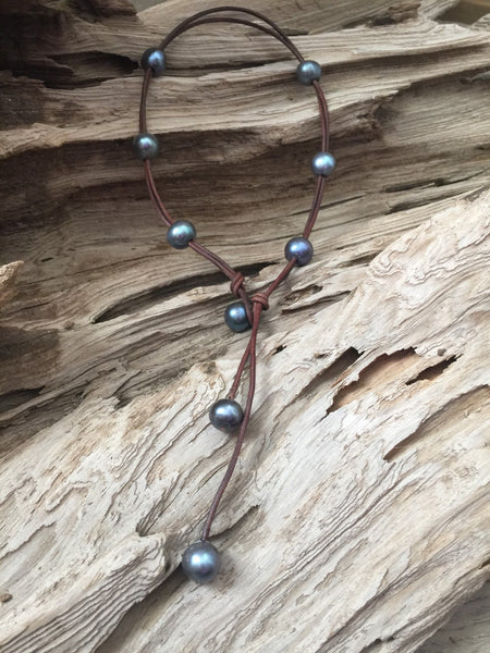 Black Peacock Pearl Signature Necklace