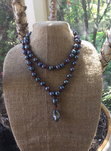 Black Peacock Pearl Necklace