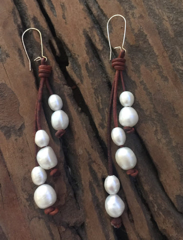 Pearl Boho Earrings