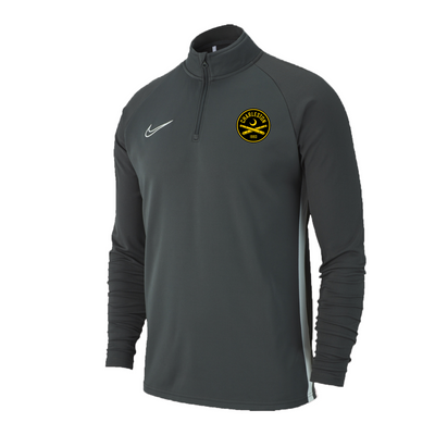 2020 Nike Youth Grey Drill Top Half-Zip