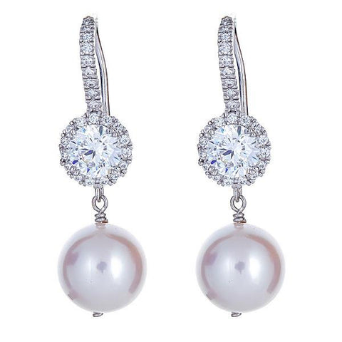 Eternity Pearl Drop Earrings