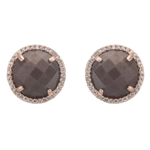 Sarah Button Earrings