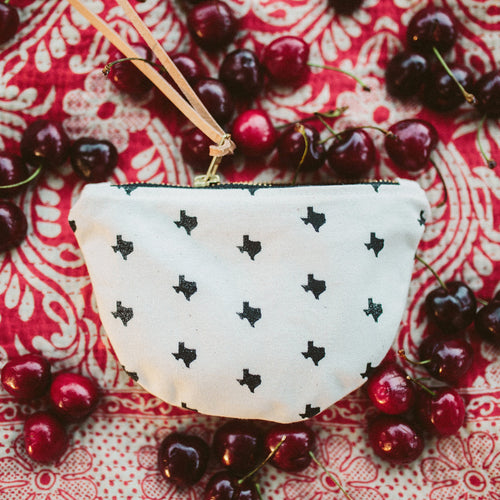 texas print small moon pouch