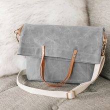 waxed canvas field bag / crossbody foldover tote