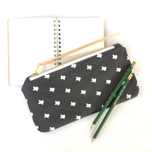 texas print clutch / zip pouch