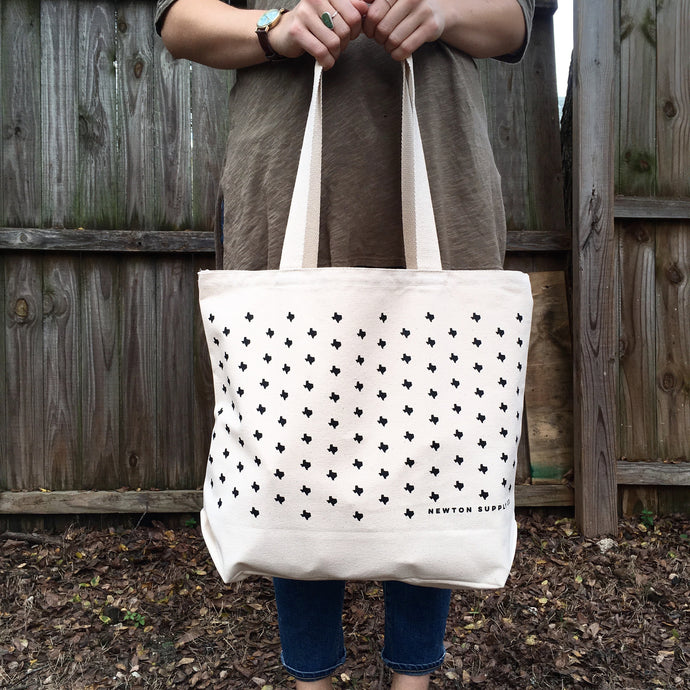 texas print grocery tote