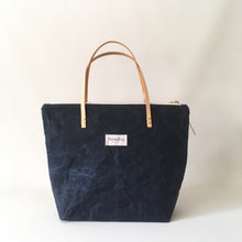 waxed canvas zip tote