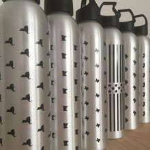 aluminum state print water bottle