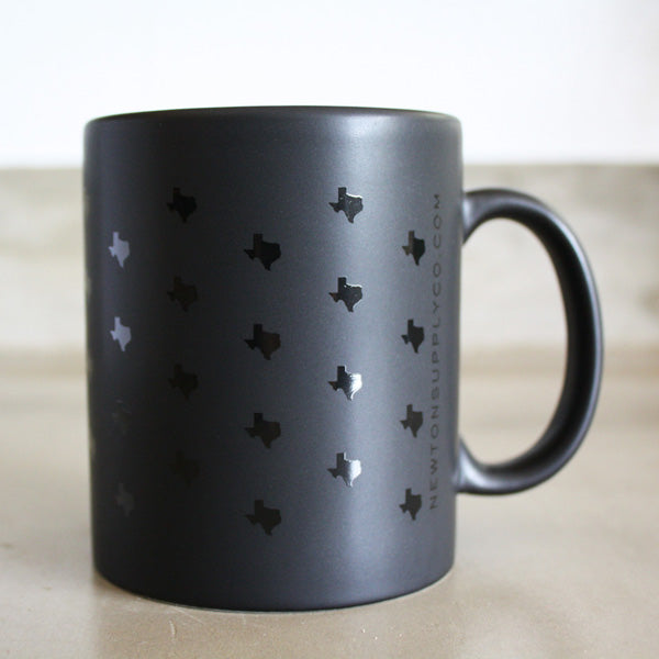 texas print coffee mug