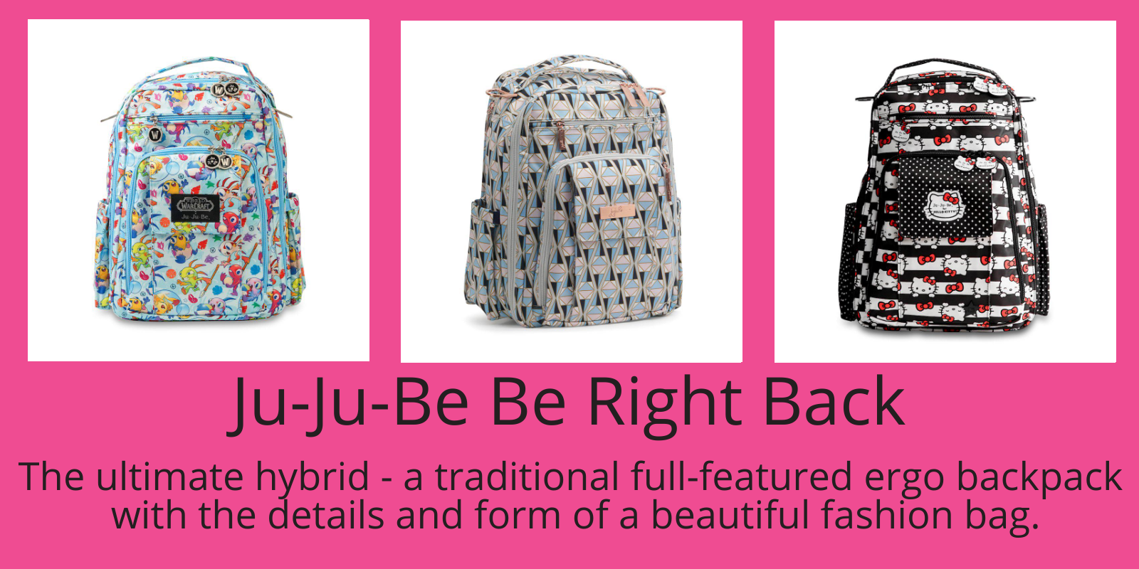 The Be Right Back - A Great Diaper Bag for the Whole Family!
