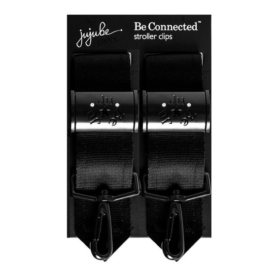 Ju-Ju-Be - Be Connected Stroller clips - Onyx - Along Came Baby, Ltd