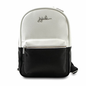 JuJuBe Mini Backpack - Black and White - Ever Collection - www.alongcamebaby.ca