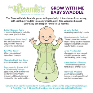 Woombie - Grow With Me 5 Swaddle - Several Prints - www.alongcamebaby.ca