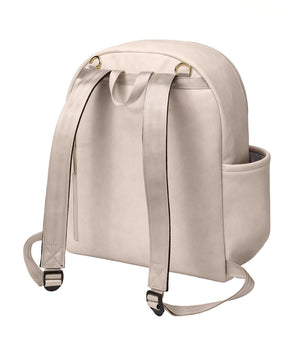 Petunia Pickle Bottom Ace Backpack - Ivory Matte Leatherette - www.alongcamebaby.ca